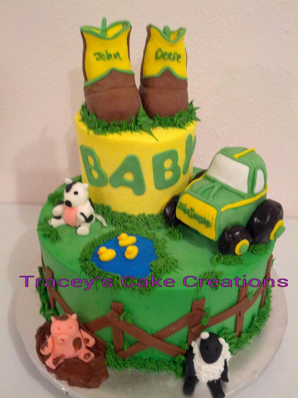 john deere baby shower cake baby stuff pinterest