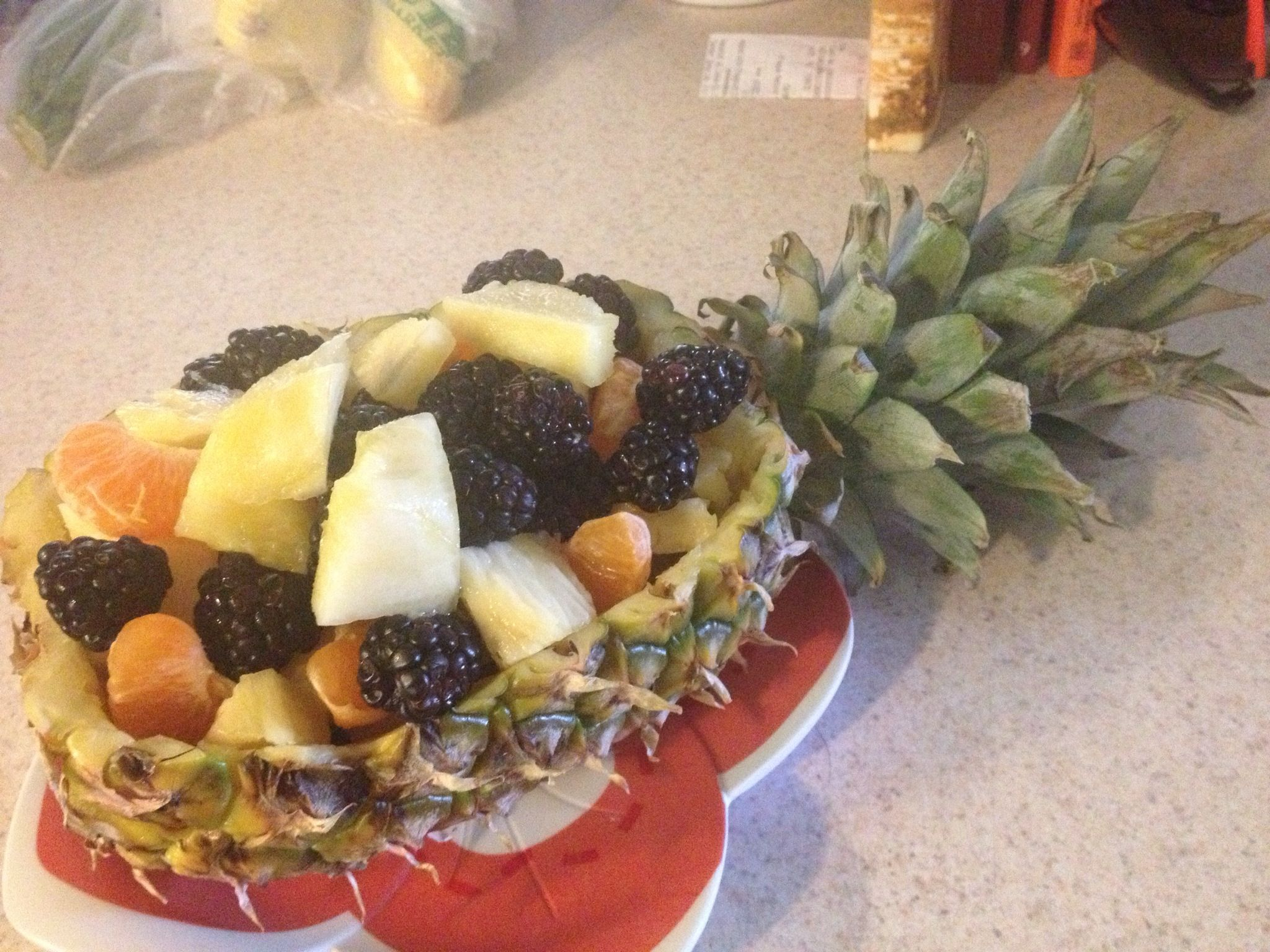 Pineapple fruit bowl | Twin baby shower/diaper and beer shower | Pint ...