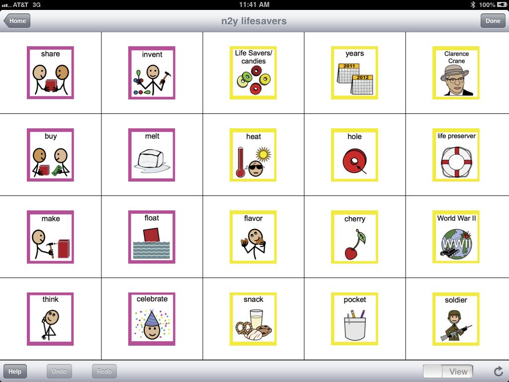 The lifesavers n2y board has a wide variety of nouns.   N2Y Weekly AAC ...