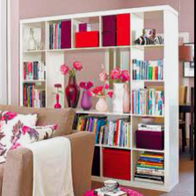 ikea expedit shelves as a room divider home ideas pinterest