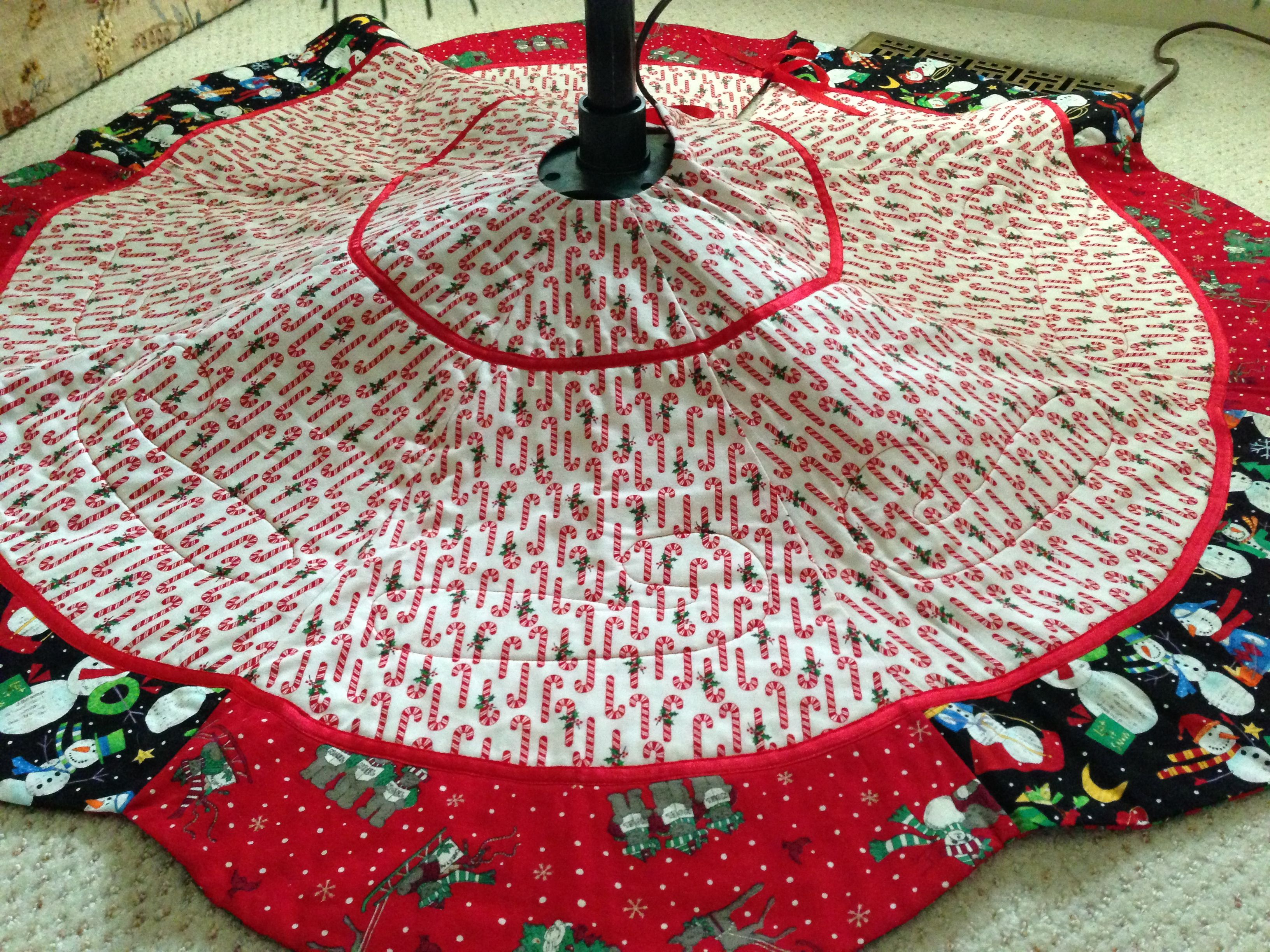 Handmade tree skirt