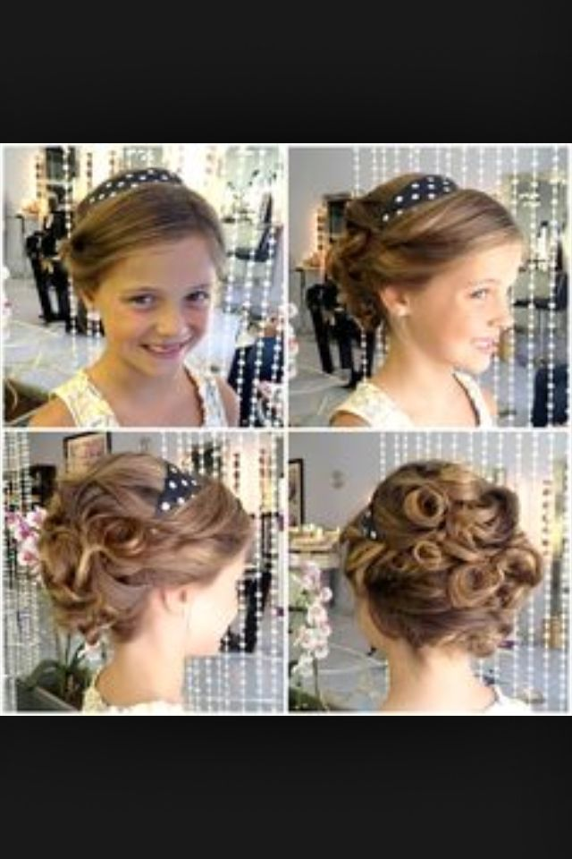 Wedding Hairstyles For Junior Bridesmaids : Junior bridesmaid wedding party hairstyles