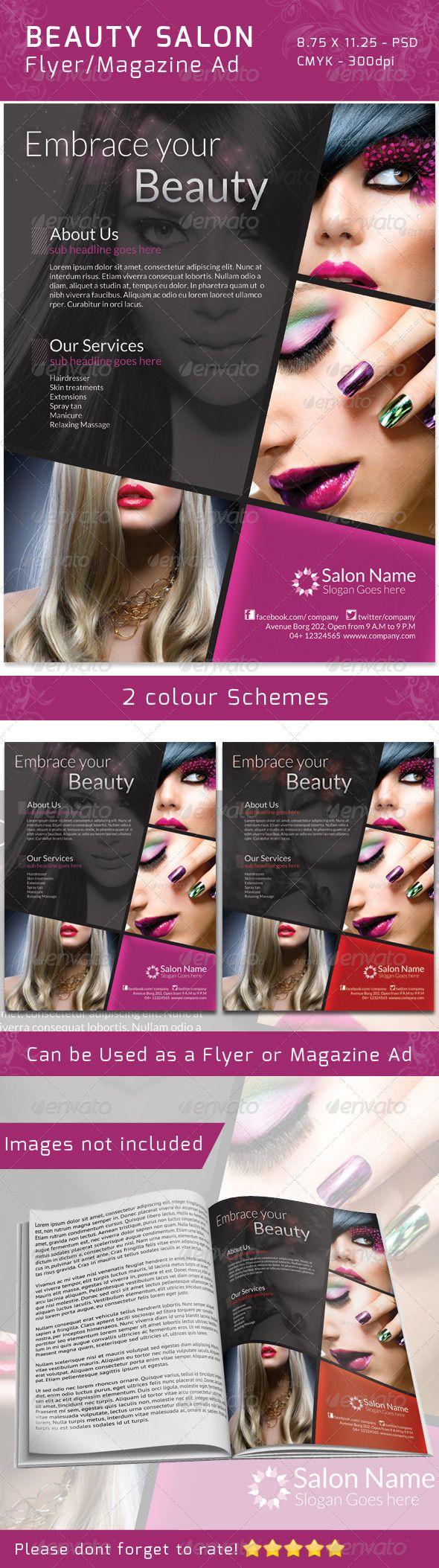 Nail Salon Brochure Templates Datariouruguay