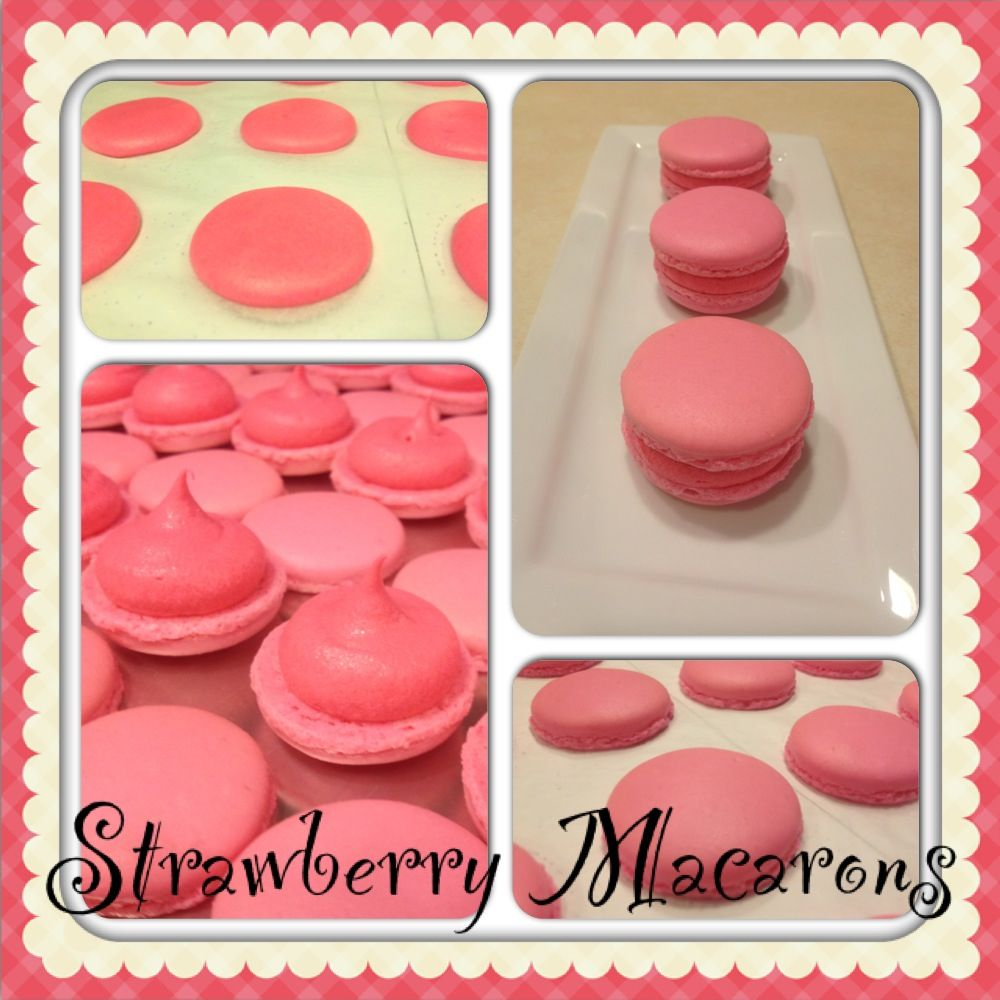 Strawberry Macarons | french macarons | Pinterest