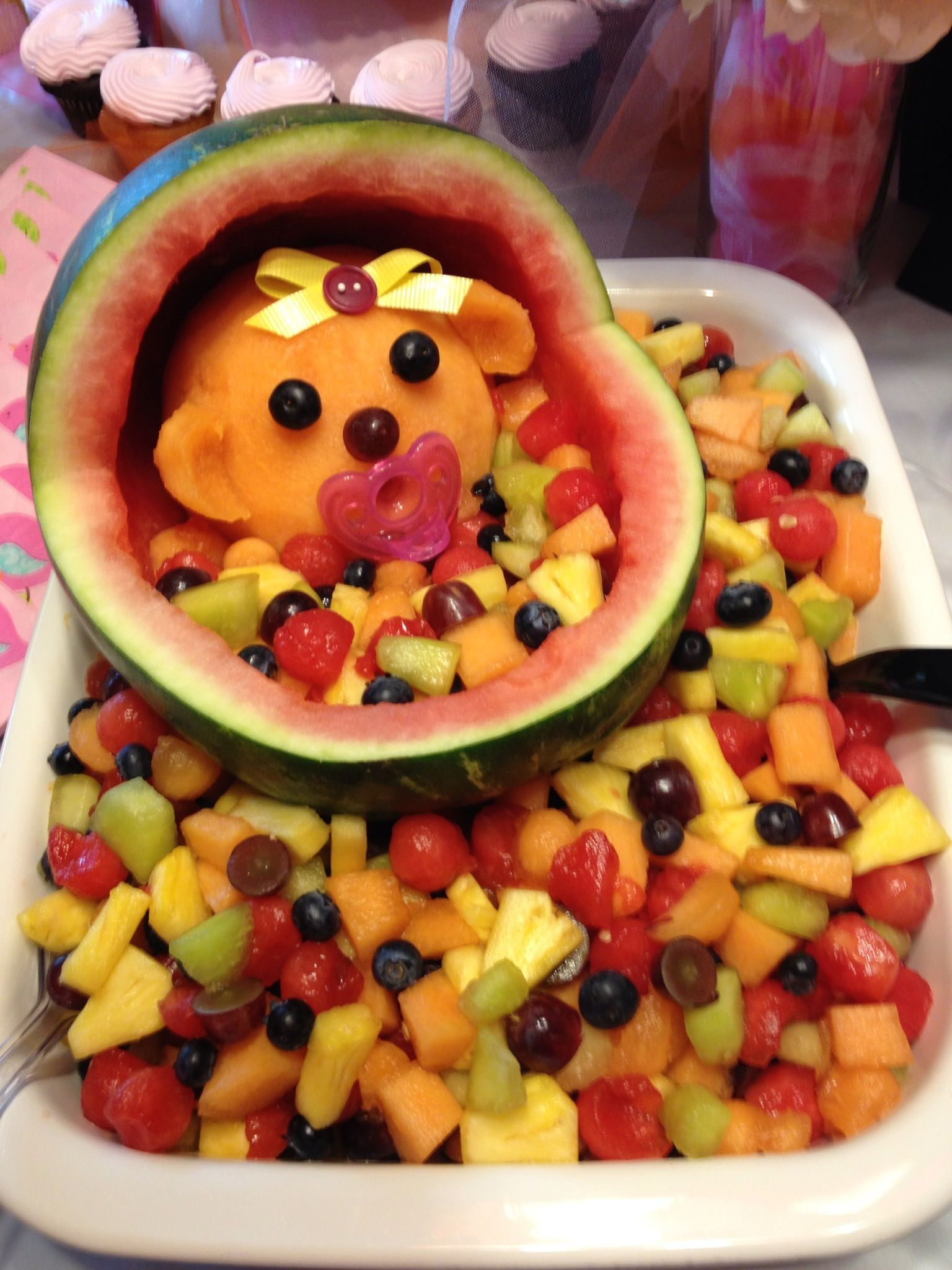 baby fruit bowl baby showers pinterest