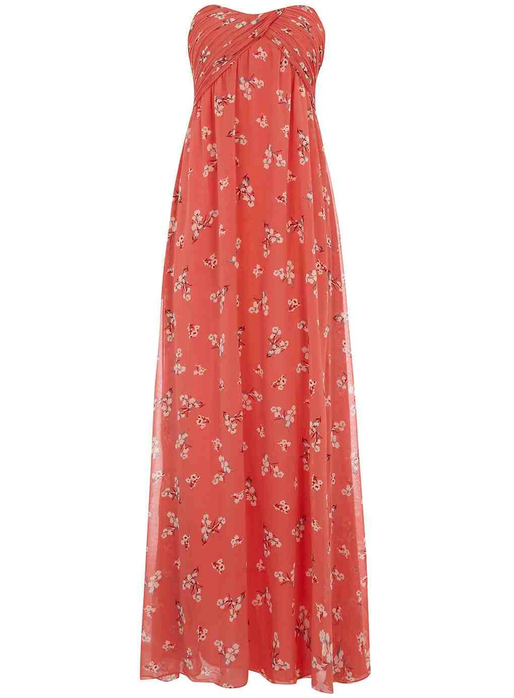 coral maxi dress beach wedding ideas pinterest