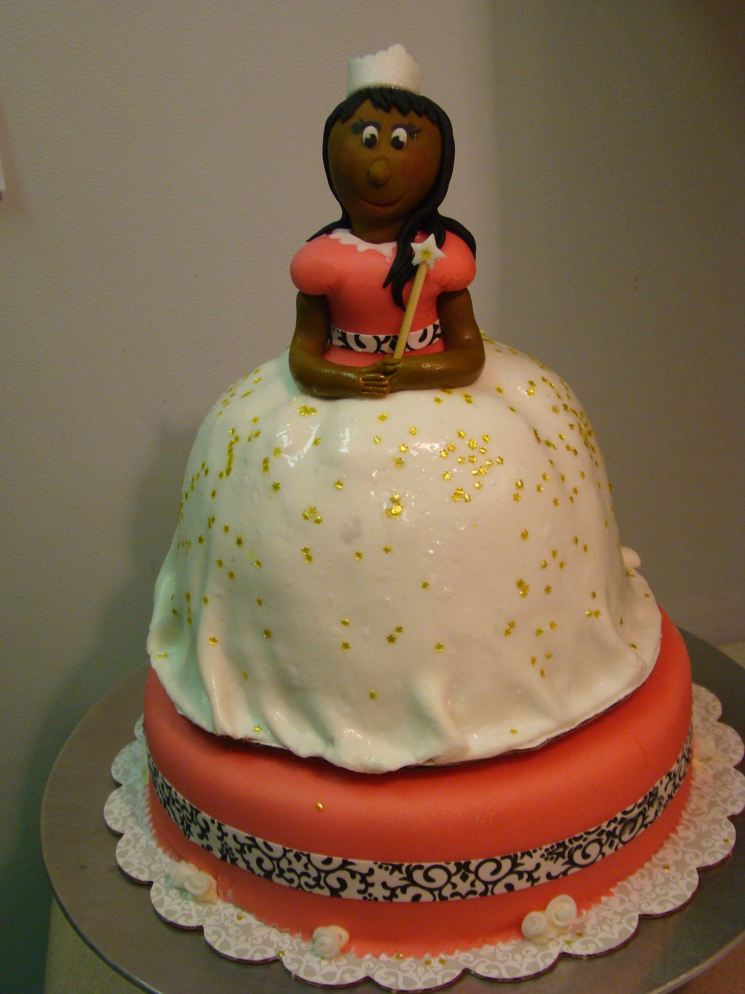 Little girl princess cake; MM fondant Heffycakes Pinterest