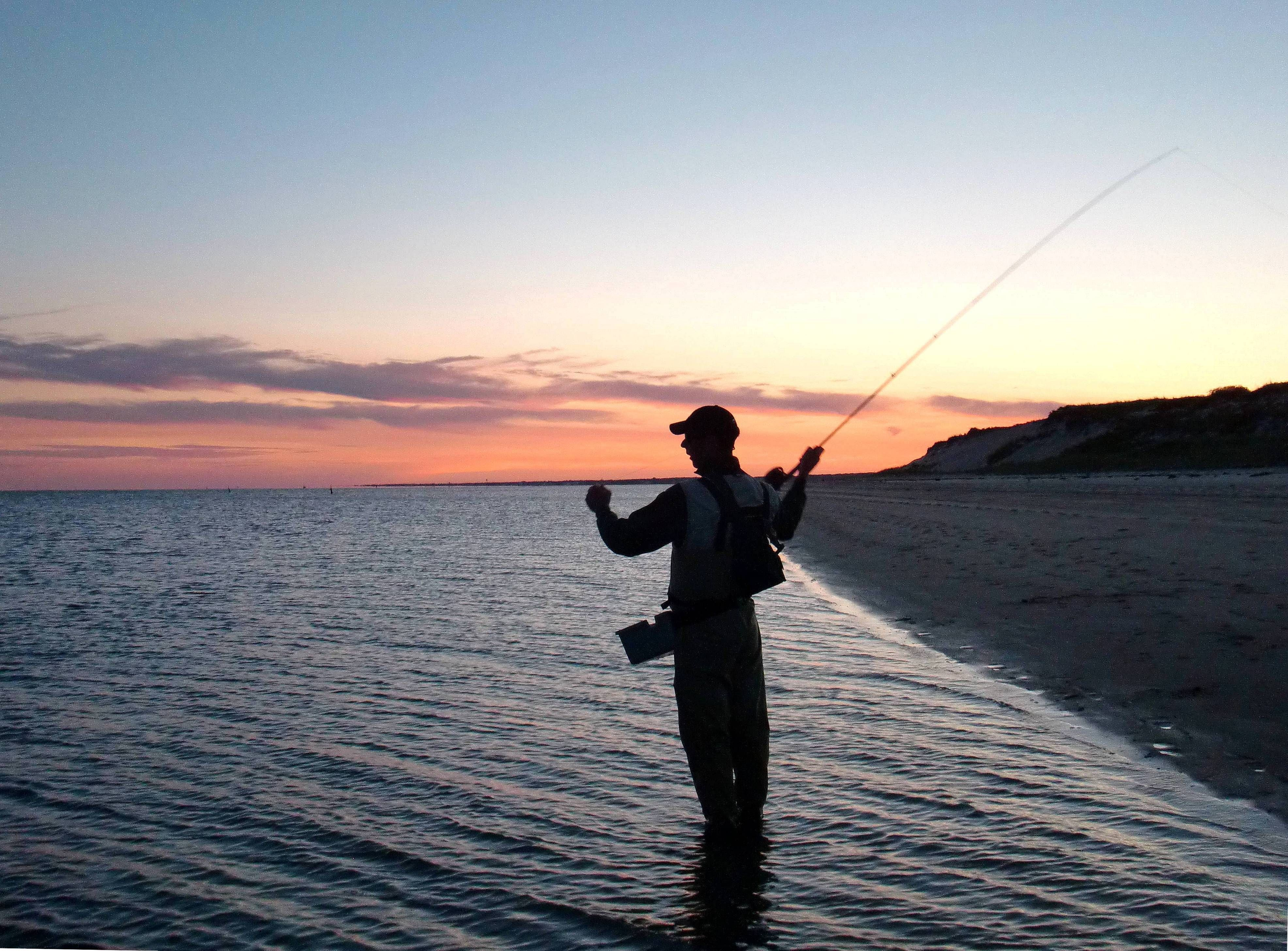 Fly Fishing At Dusk In Cape Cod Fishing Pinterest