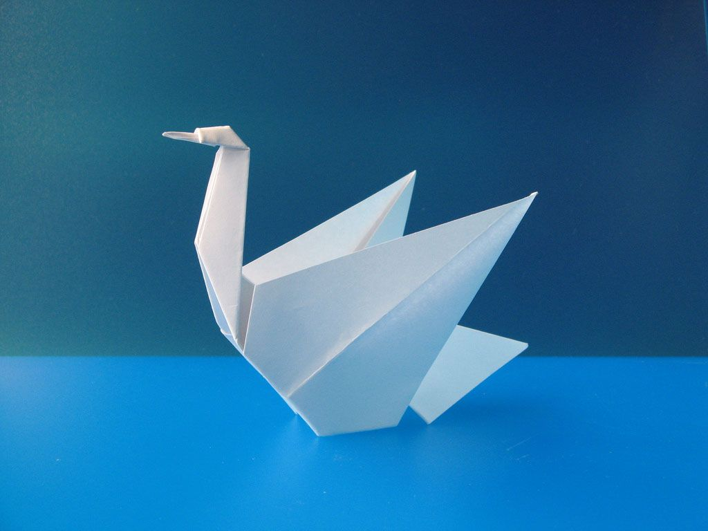 template origami swan christmas pinterest