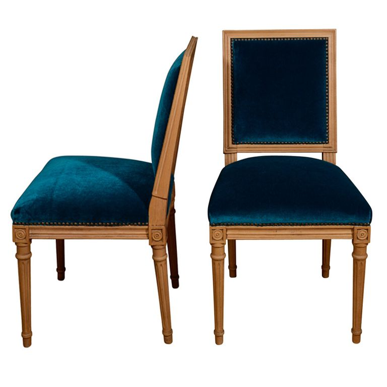 peacock blue chairs  lust  Pinterest