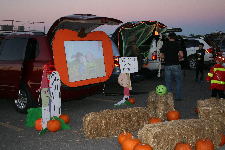 Great Pumpkin Trunk or Treat idea | halloween | Pinterest