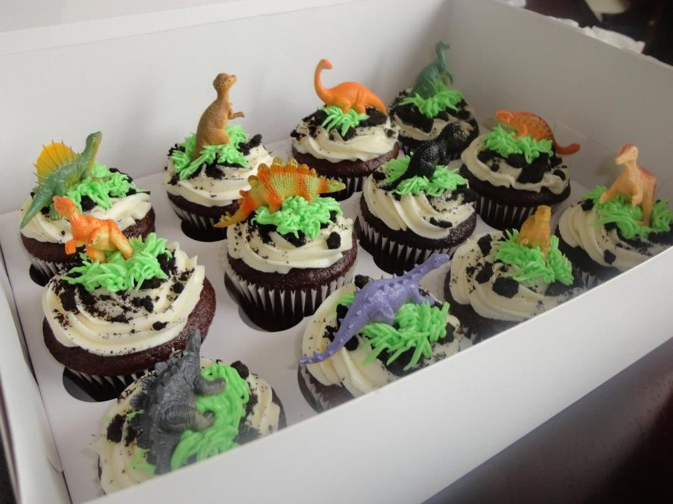 DINOSAUR cupcakes!  cupcakes  Pinterest
