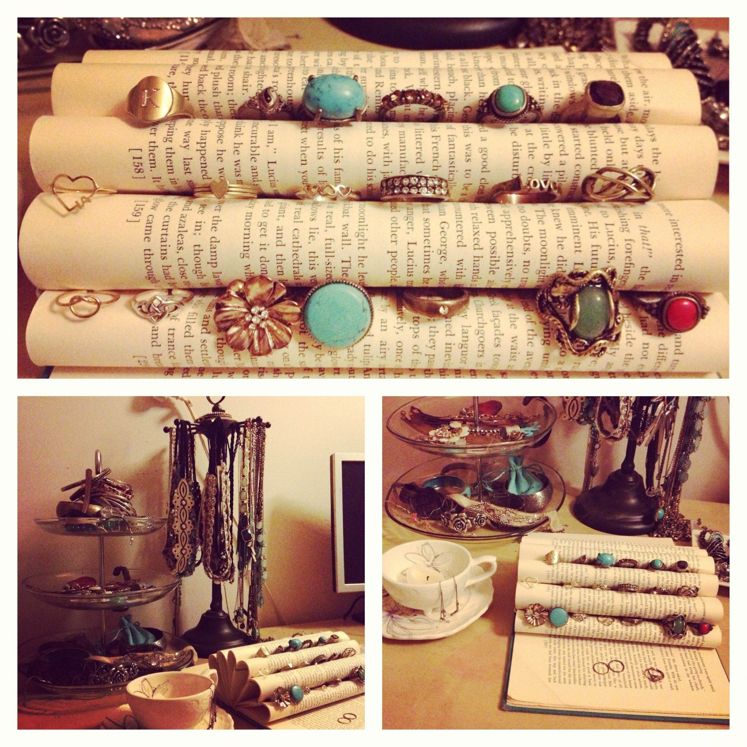 Creative ways to store your jewelry found on pinterest for Clever ways to store jewelry