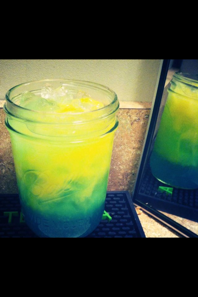 Green and yellow mixed drink food drink pinterest for Mixed drinks with green tea