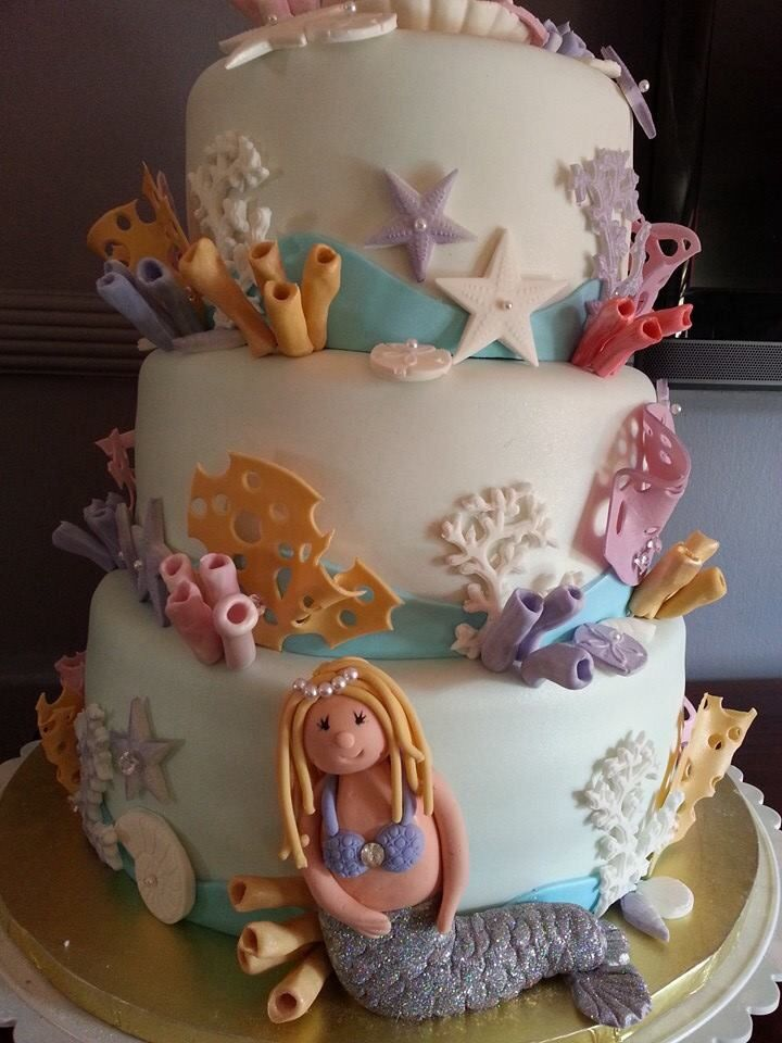 mermaid themed baby shower my cakes pinterest