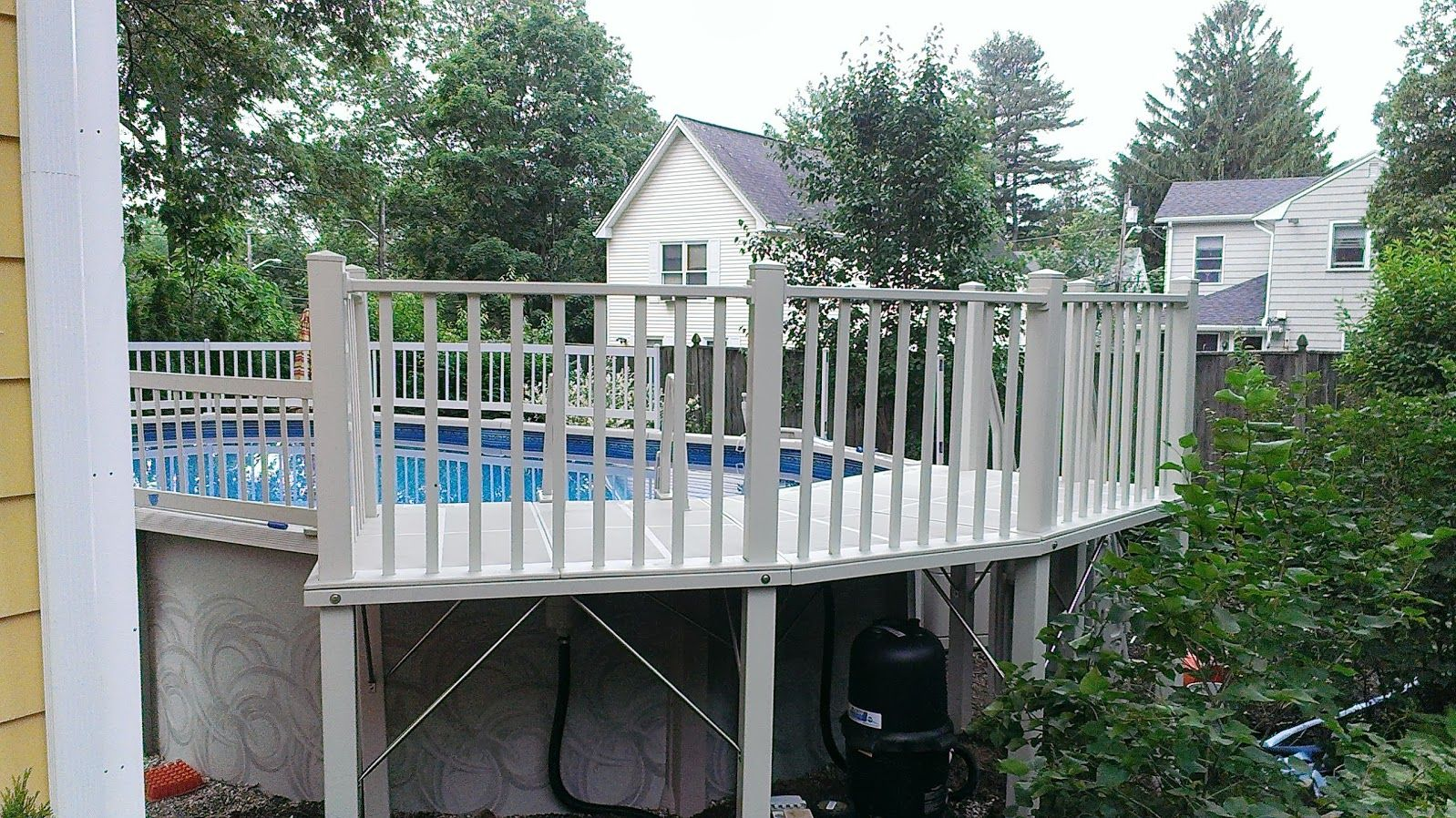 Resin deck 5ft x 13ft built in melrose ma on an for Namco pools