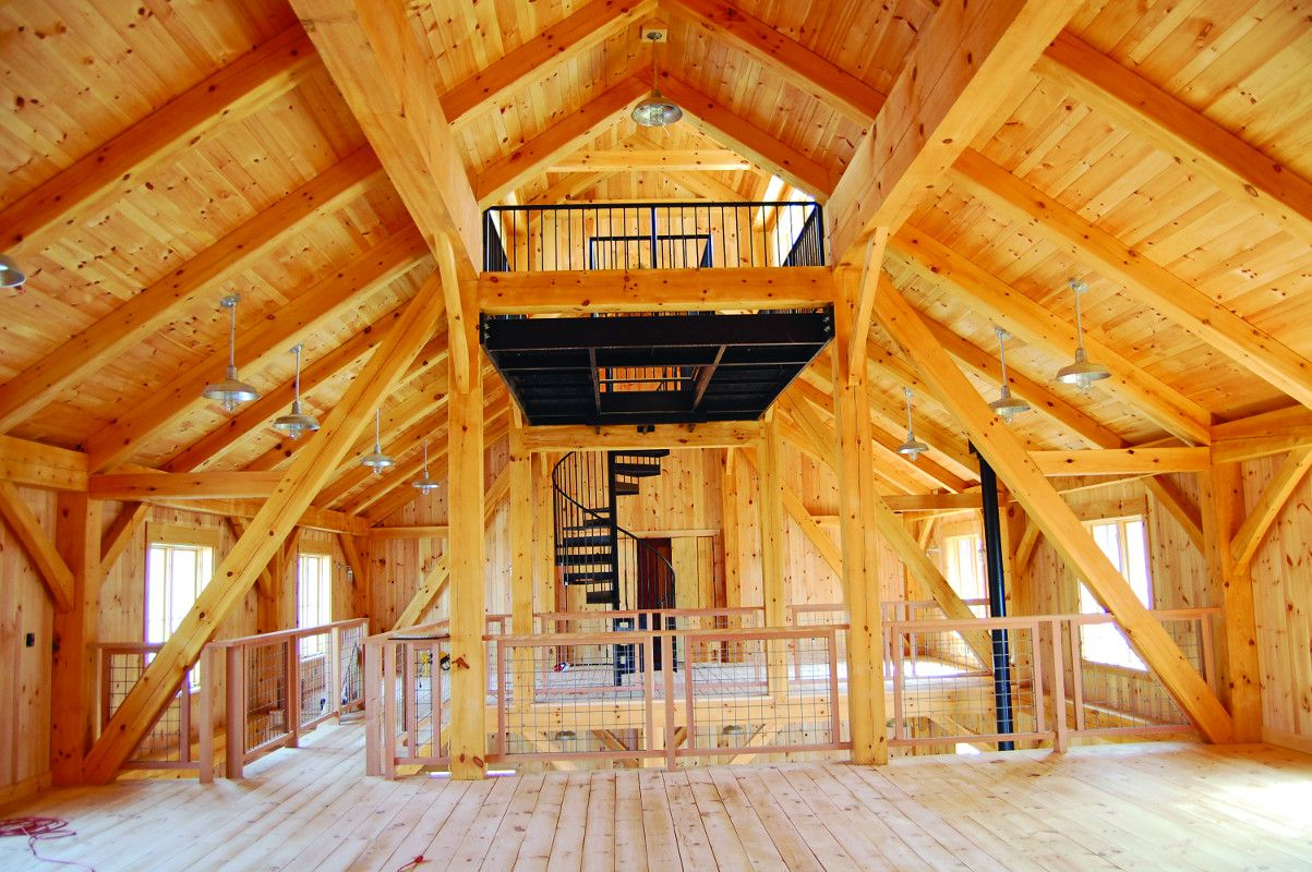 Timber frame house construction for the self builder