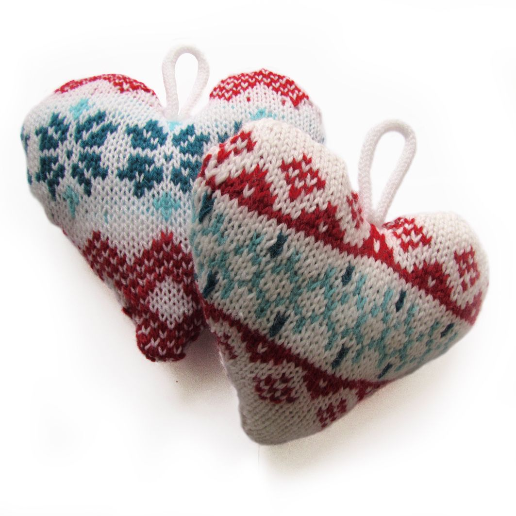 Free Nordic Knitting Patterns : NORDIC knitted hearts. Free pattern. Knit Pinterest