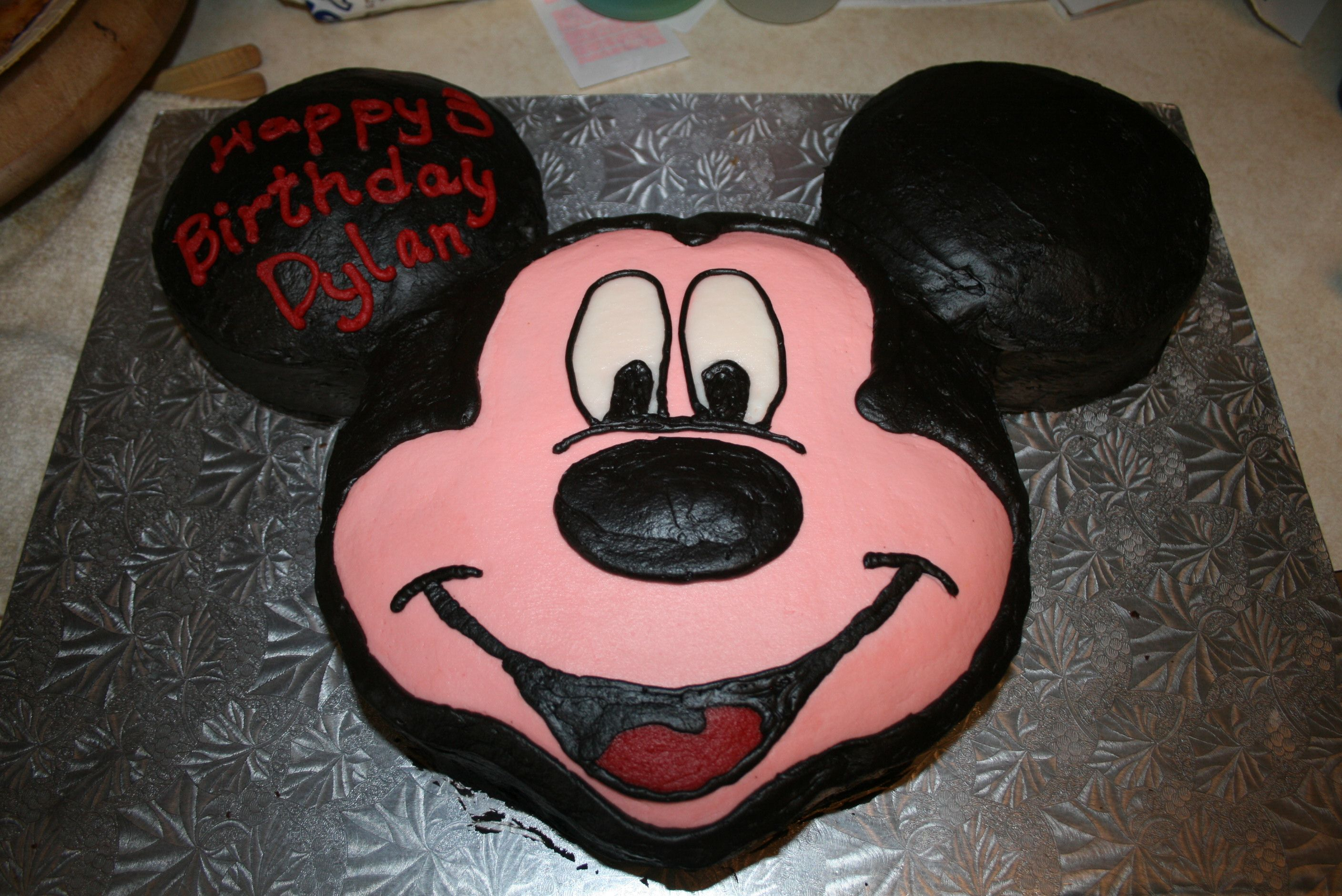 Mickey Mouse face cake My Cake Creations Pinterest