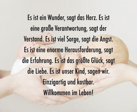 Schöne Sprüche zur Geburt | Zitate | Baby album, Welcome baby und ...