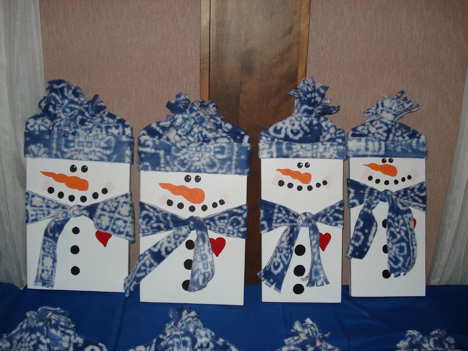 snowman boards | Winter Crafts | Pinterest