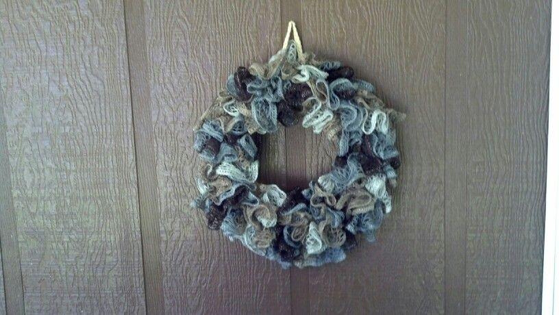 Sashay yarn wreath crochet pinterest