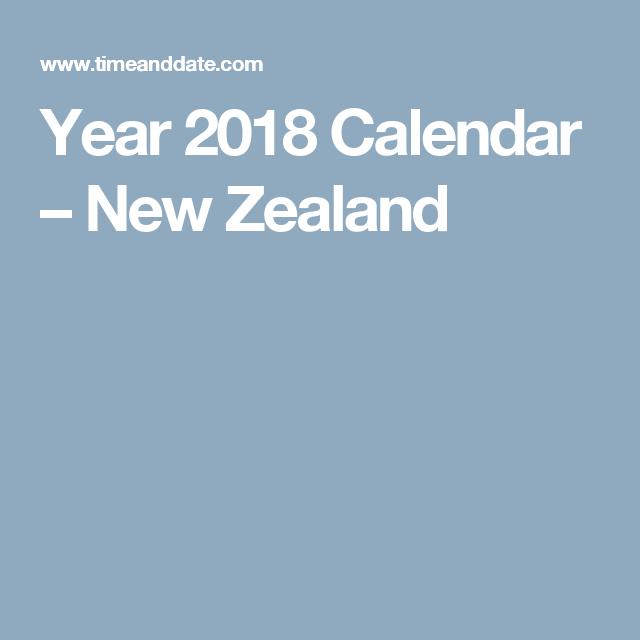 Year 2018 Calendar – New Zealand | New Zealand | Pinterest