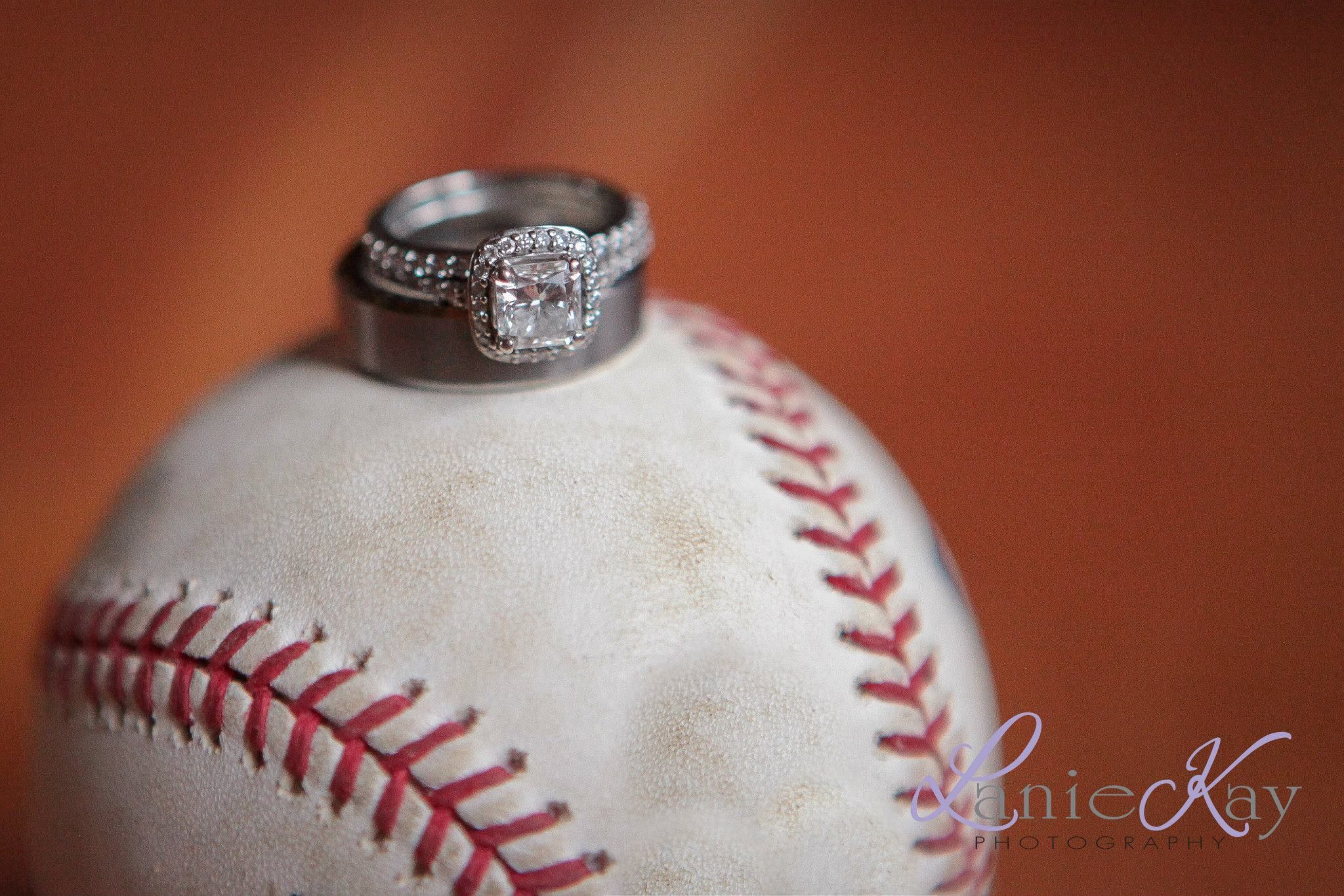 Wedding Rings On A Baseball Happily Ever After Pinterest