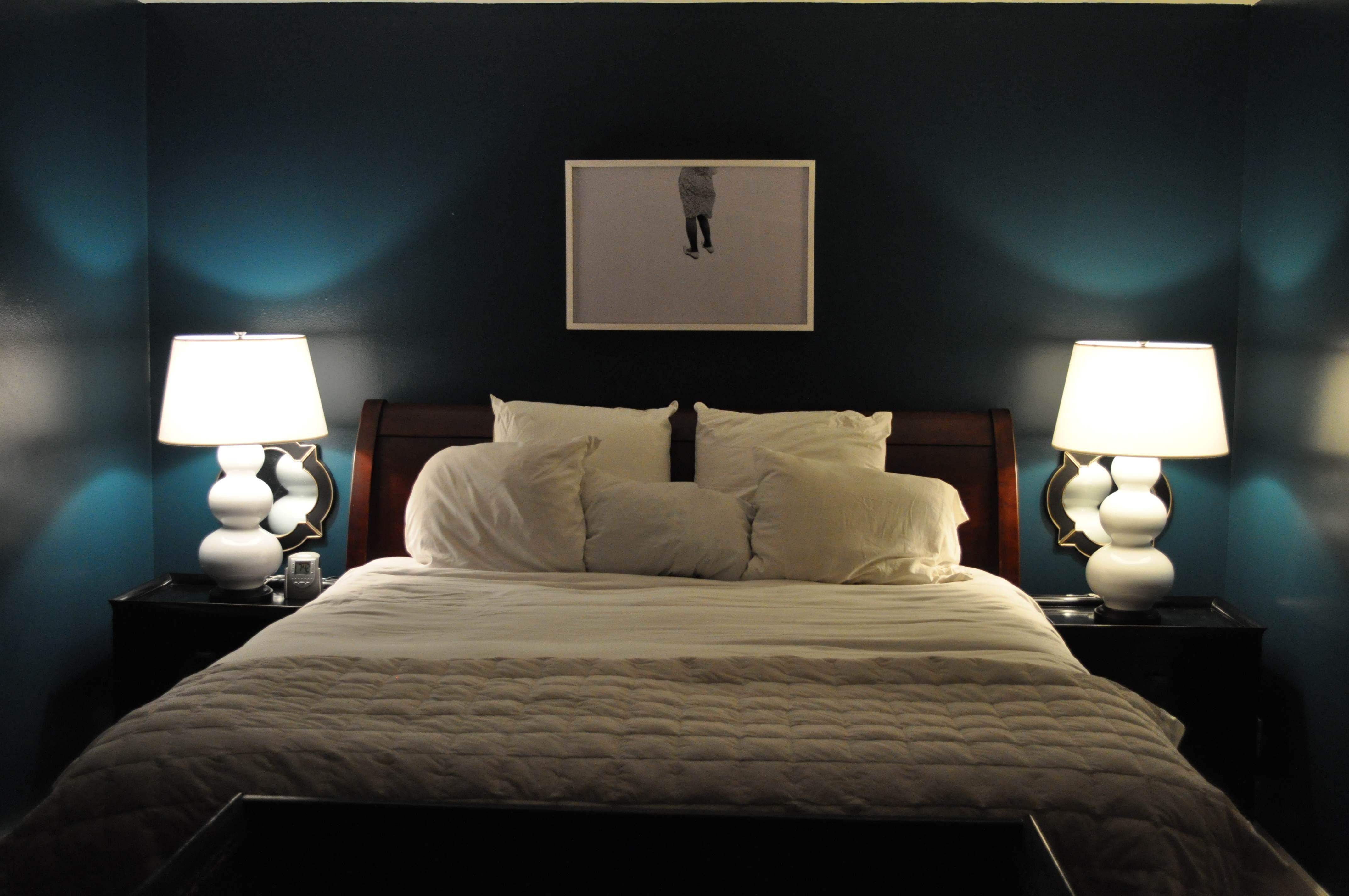 Pin by april sweeney on bedroom pinterest for Dark paint in bedroom