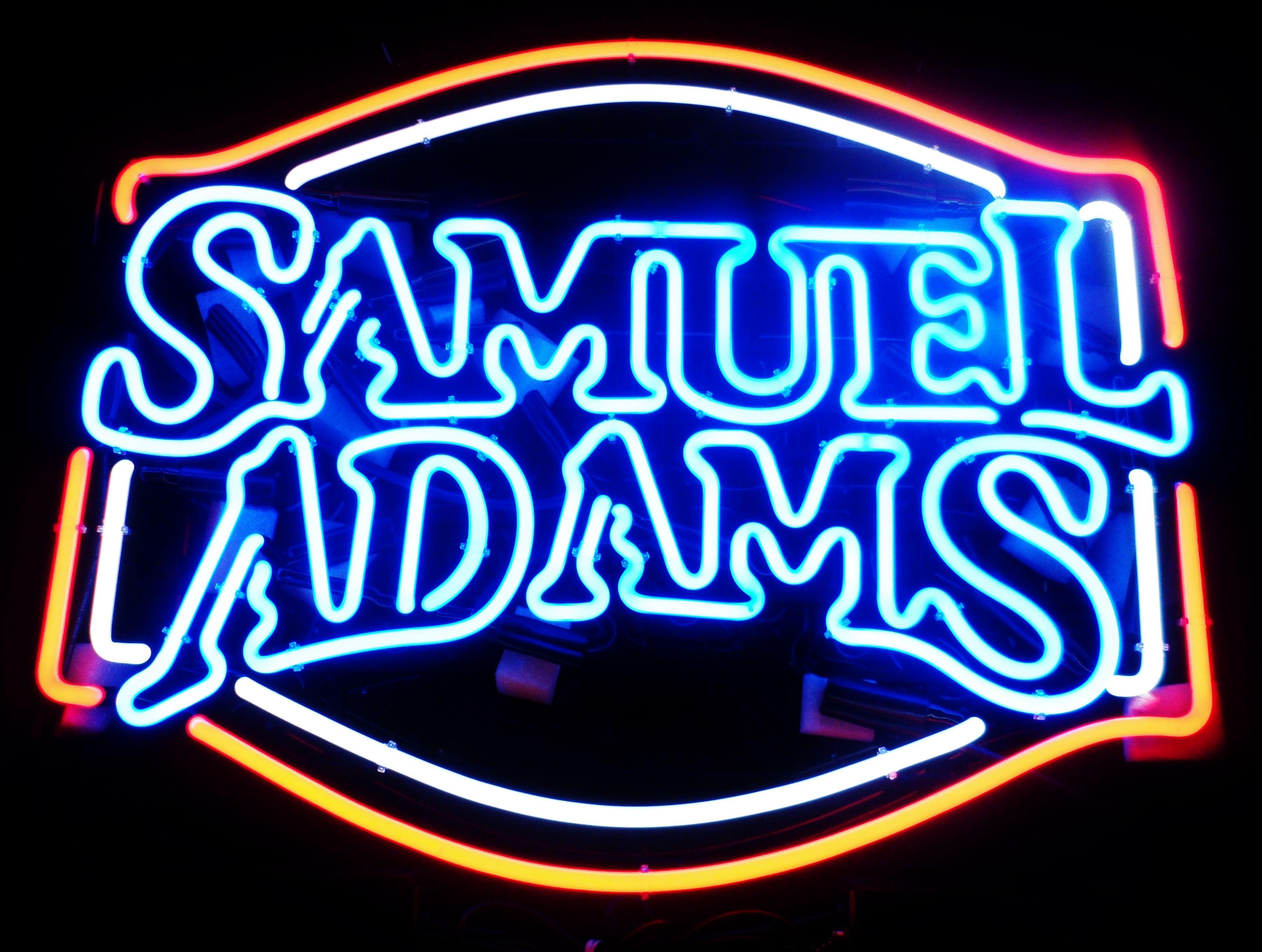 samuel adams neon bar sign circa 2012 breweriana. Black Bedroom Furniture Sets. Home Design Ideas