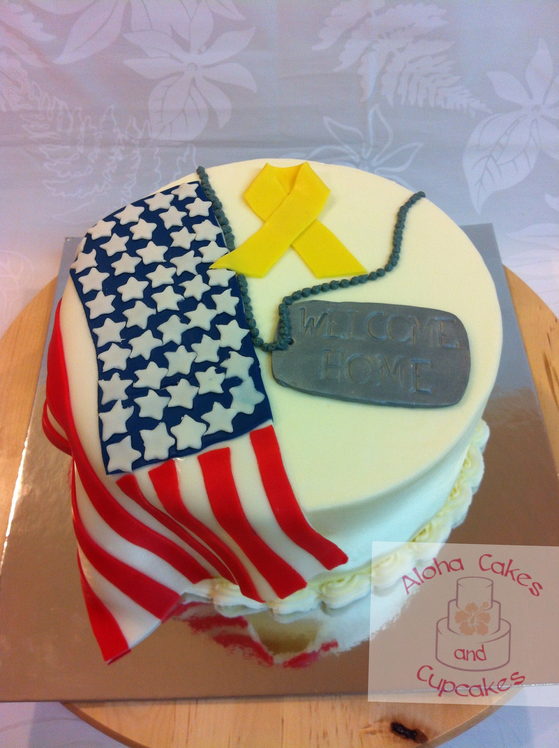 Welcome home military cake ideas 52013 welcome home cake c for Welcome home cake decorations