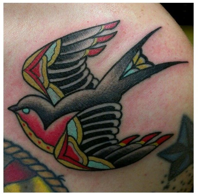 Traditional swallow tattoo by zack taylor at evermore for Traditional americana tattoos