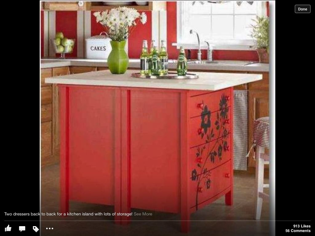 Great Ida For An Island In The Kitchen Furniture Remake Pinterest