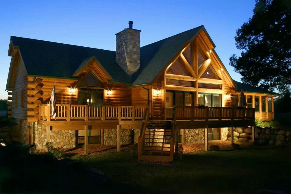 Beautiful Log Home Design Inspirations Pinterest