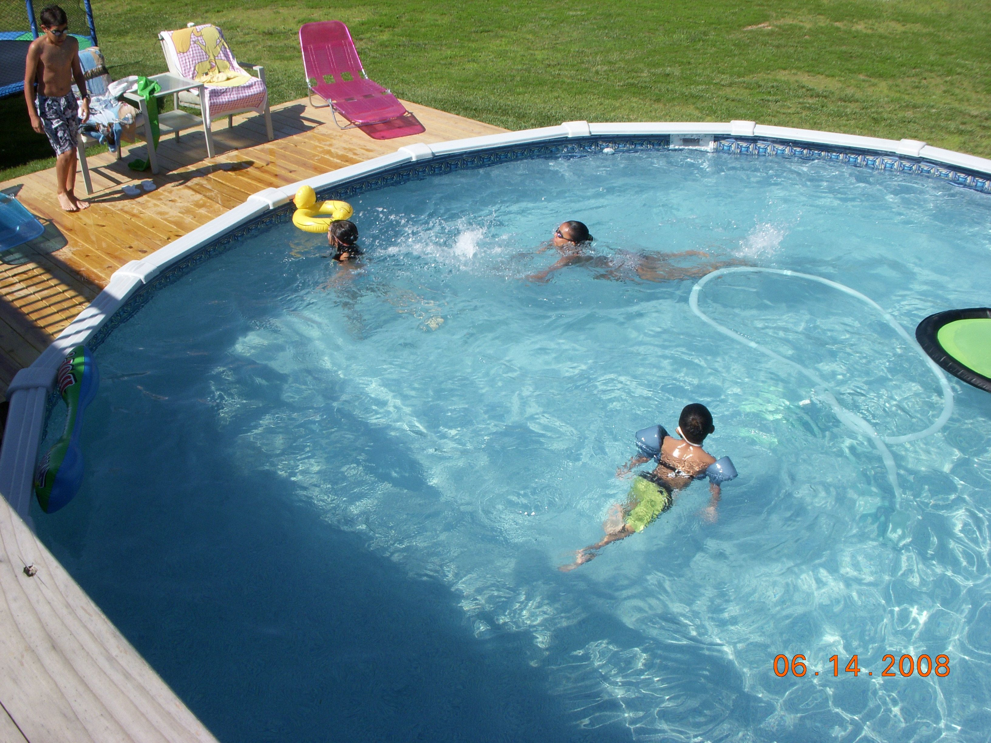 Our customers love their above ground swimming pool for Blue world pools