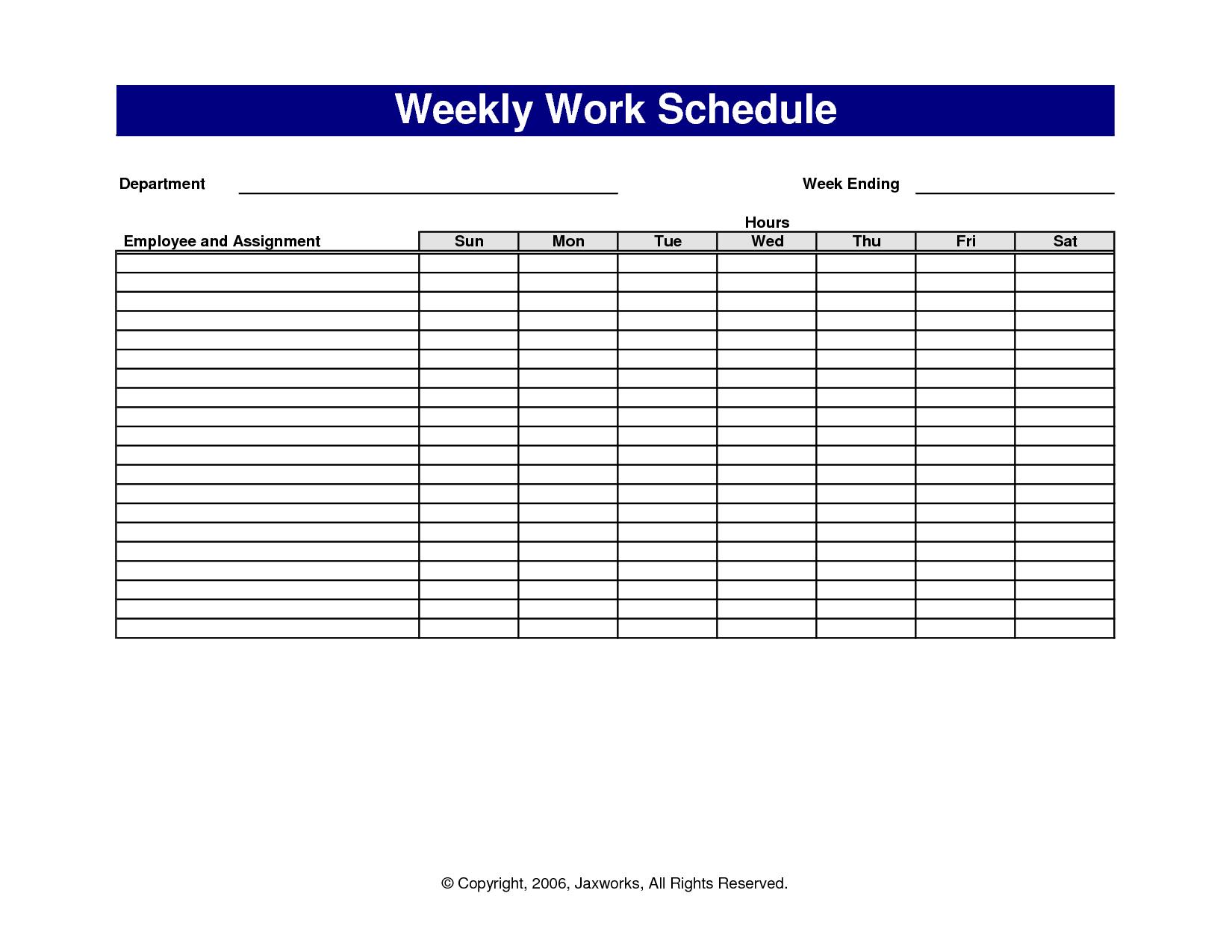 weekly schedule template awesome printable calendar pdf school work