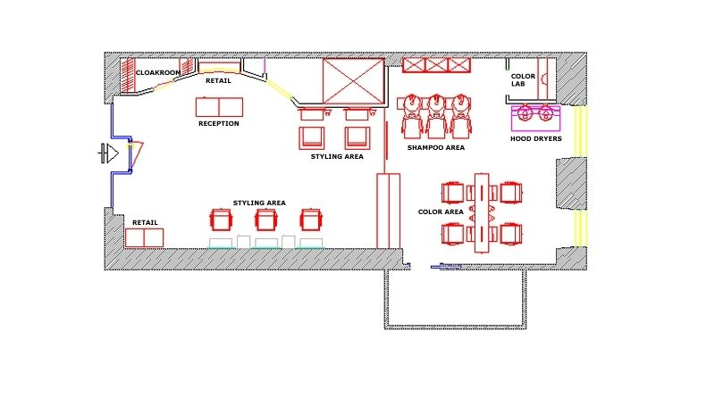 Beauty Salon Floor Plans For 2300 Square Feet