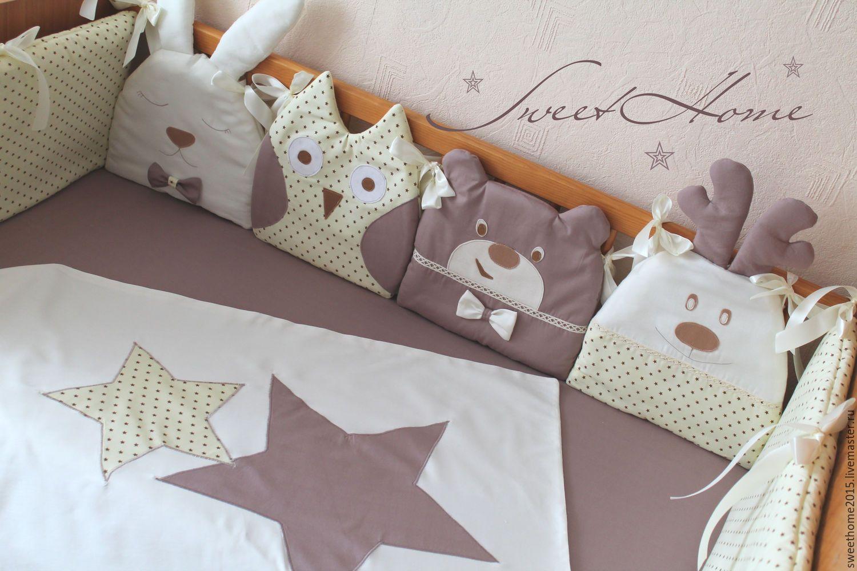 Бортики подушками своими руками 9