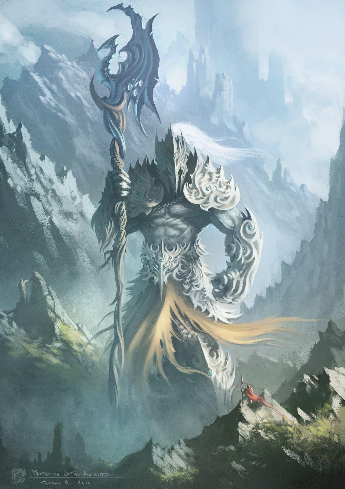 Cuidador Del Templo Fantasy Pinterest