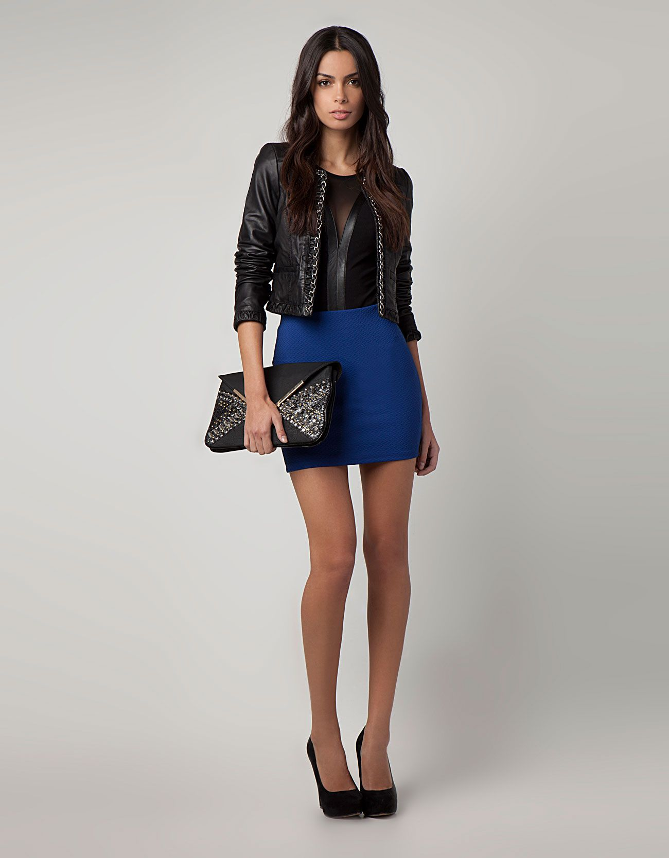 Falda azul electrico | Moda | Pinterest