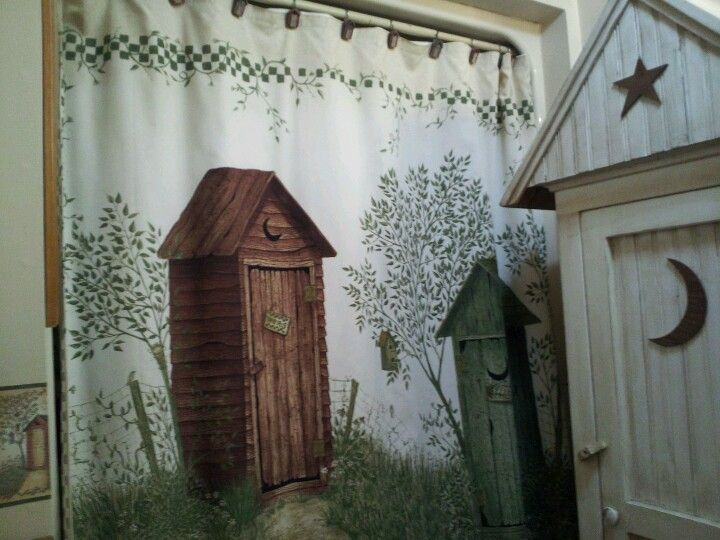 Outhouse shower curtain | House | Pinterest
