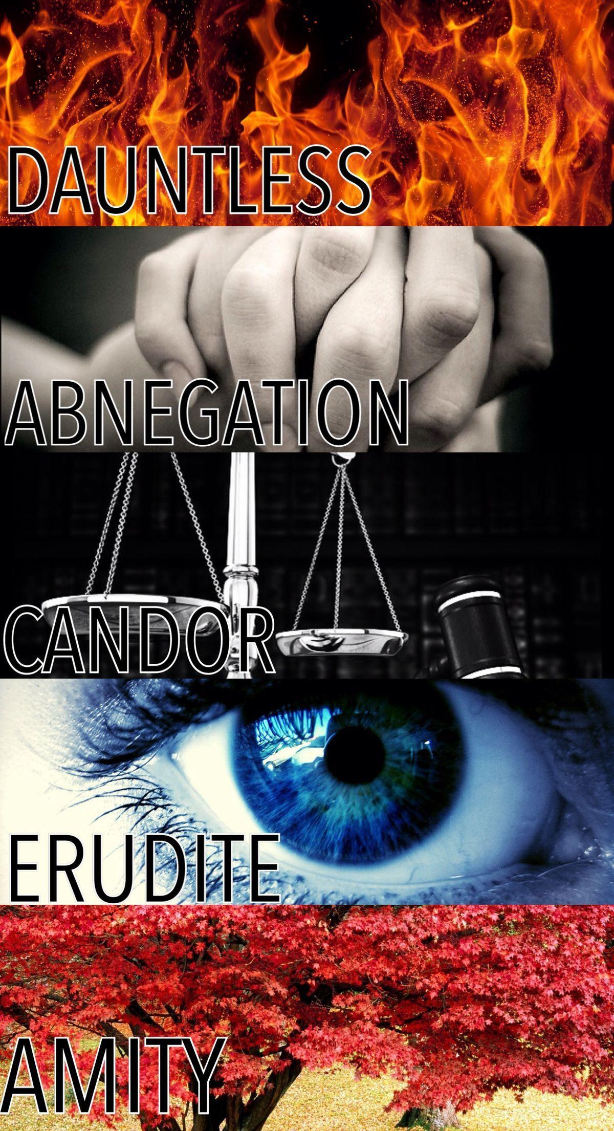 The 5 factions ~~~ | Divergent Trilogy | Pinterest
