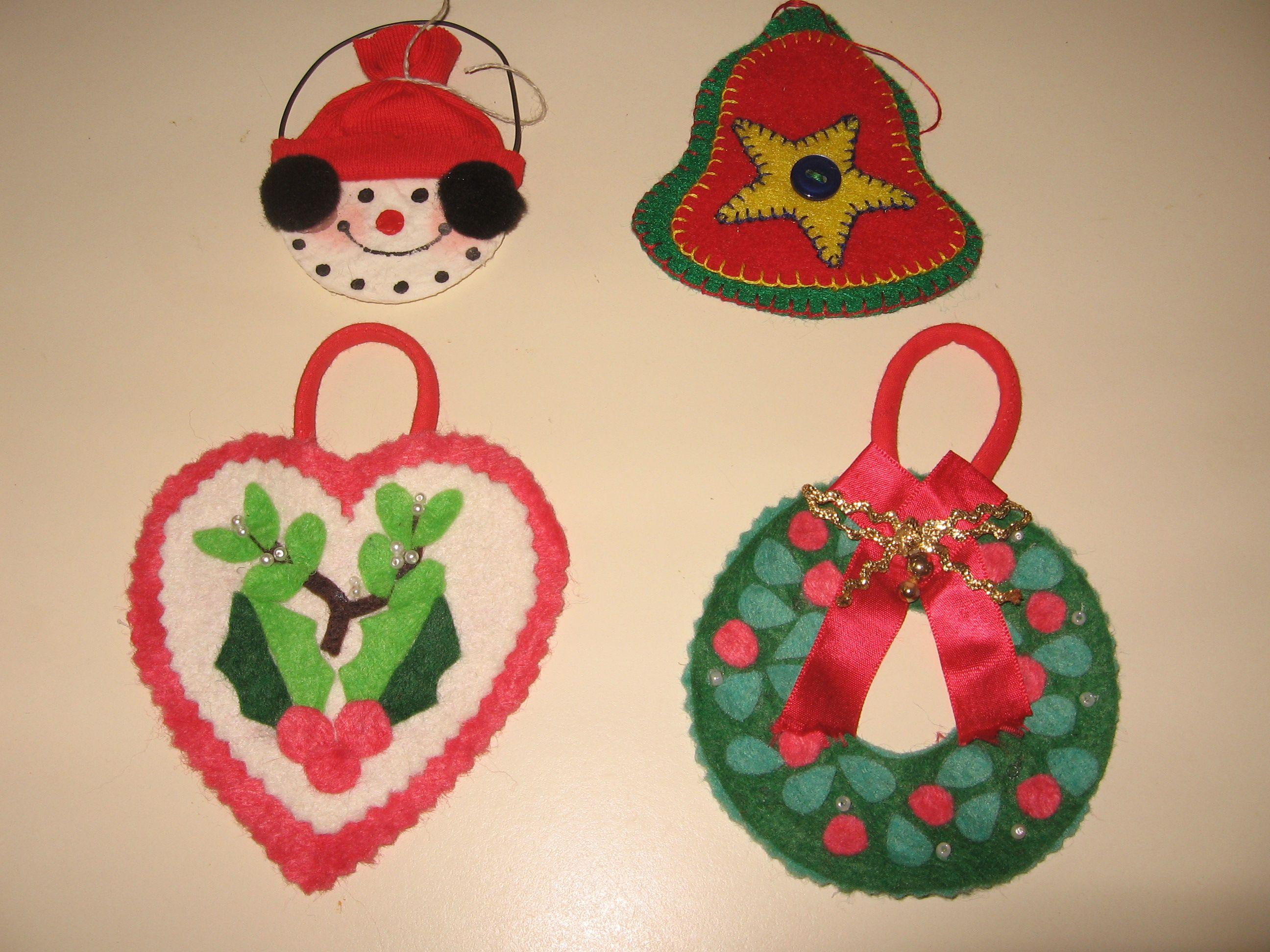 Felt ornaments | Craft Ideas | Pinterest