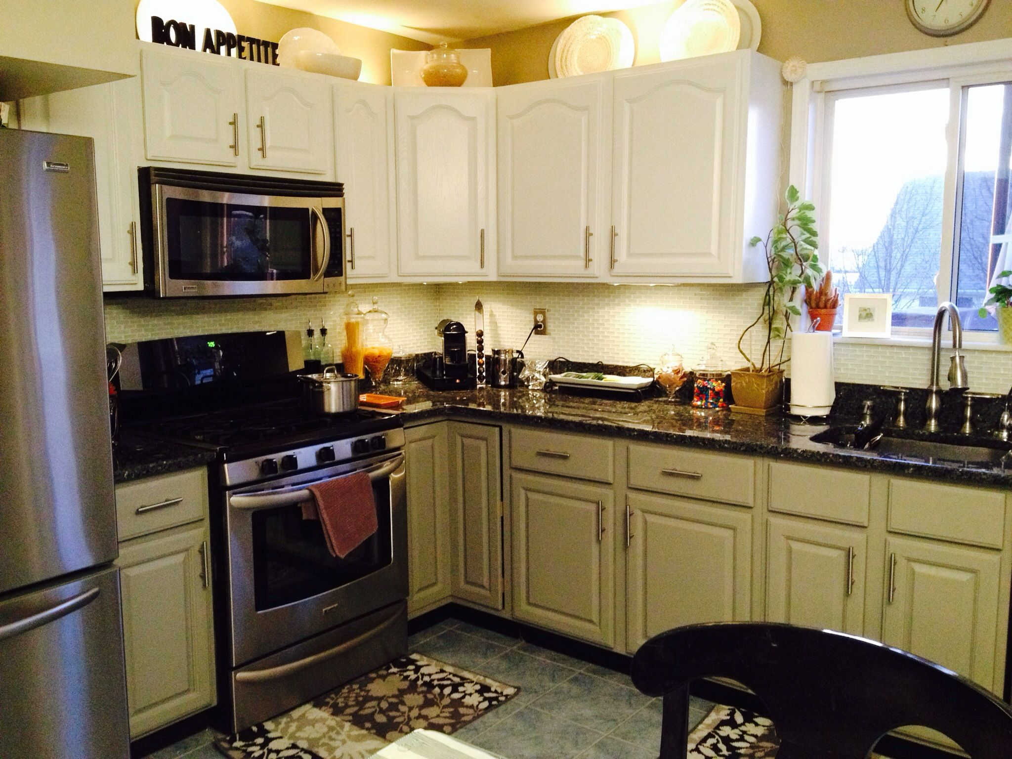 Newly Painted Kitchen Cabinets Decorating Pinterest