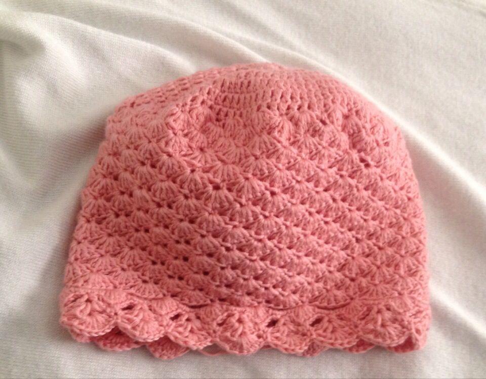 Riley Crochet Baby Hat Pattern : Lace thin crochet baby hat Crochet hats Pinterest