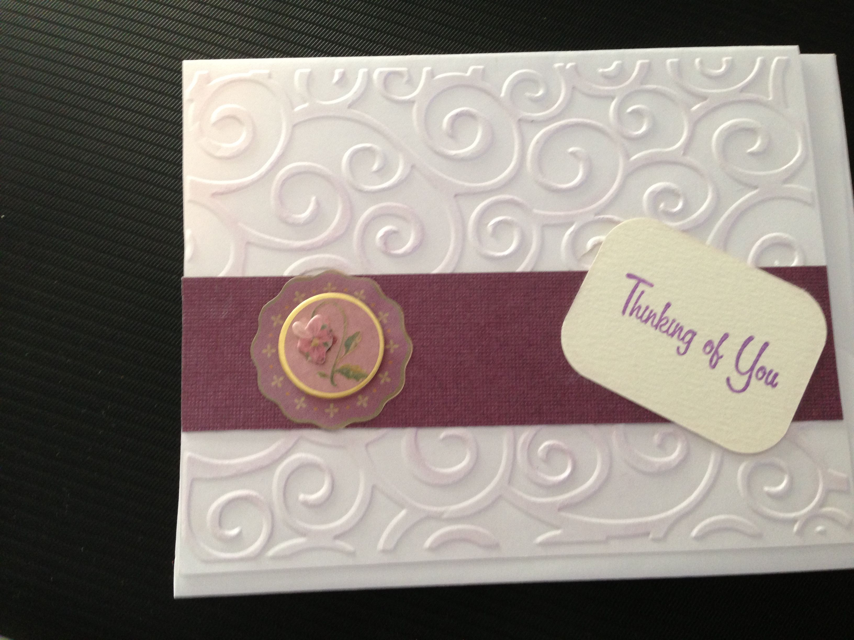 Thinking of you   Homemade Greeting Cards   Pinterest