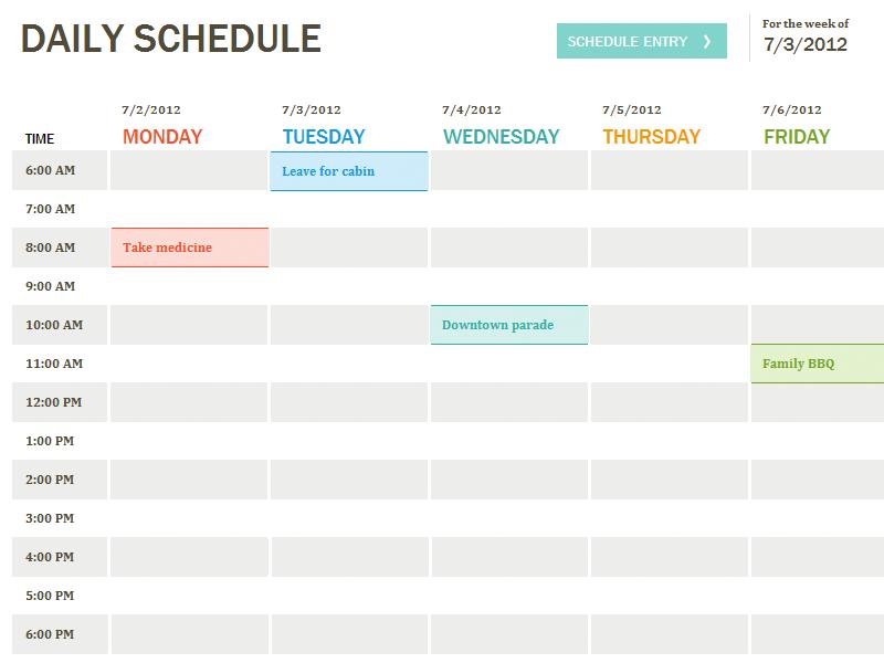 Daily Agenda Calendar Template My Blog – Sample Agenda Calendar