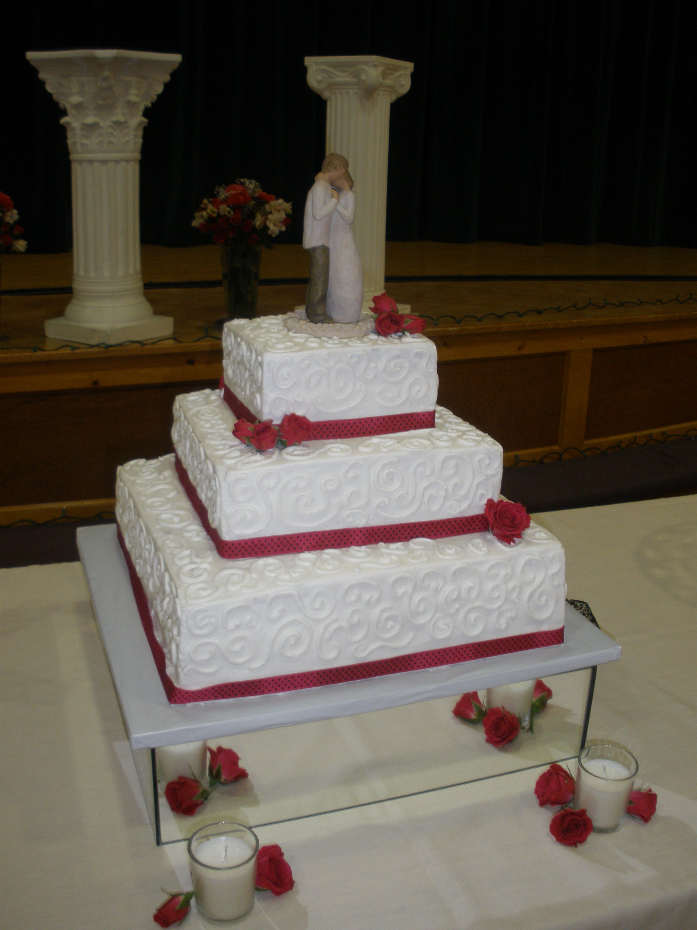 Similiar 3 Tier Square Wedding Cakes Keywords