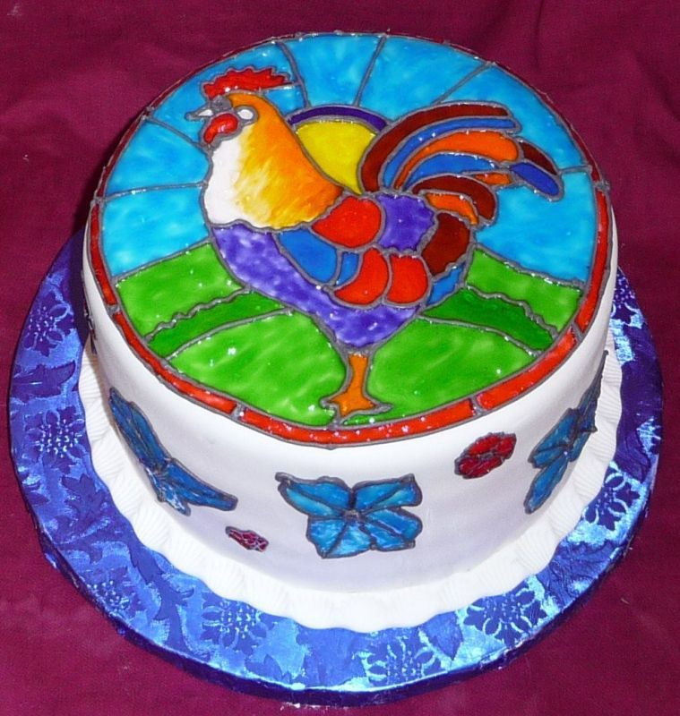 Rooster cake idea Cakes Pinterest