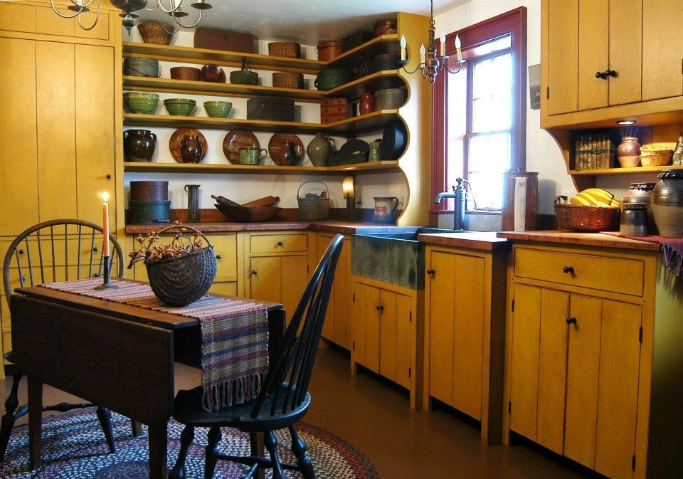 Primitive COUNTRY KITCHENS Pinterest
